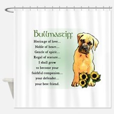 Bullmastiff Pup Shower Curtain