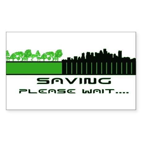 Saving the environment Sticker (Rectangle)