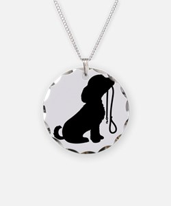 Dog and Leash Necklace