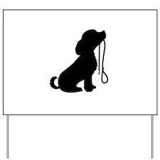 Dog and Leash Yard Sign