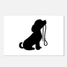 Dog and Leash Postcards (Package of 8)