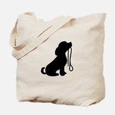 Dog and Leash Tote Bag
