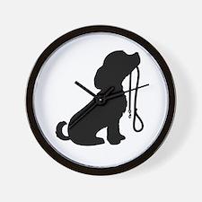 Dog and Leash Wall Clock