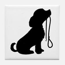 Dog and Leash Tile Coaster