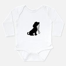 Dog and Leash Long Sleeve Infant Bodysuit