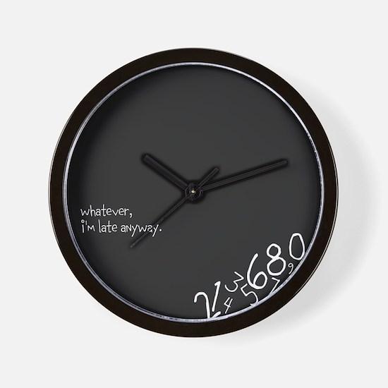Unique Late Wall Clock