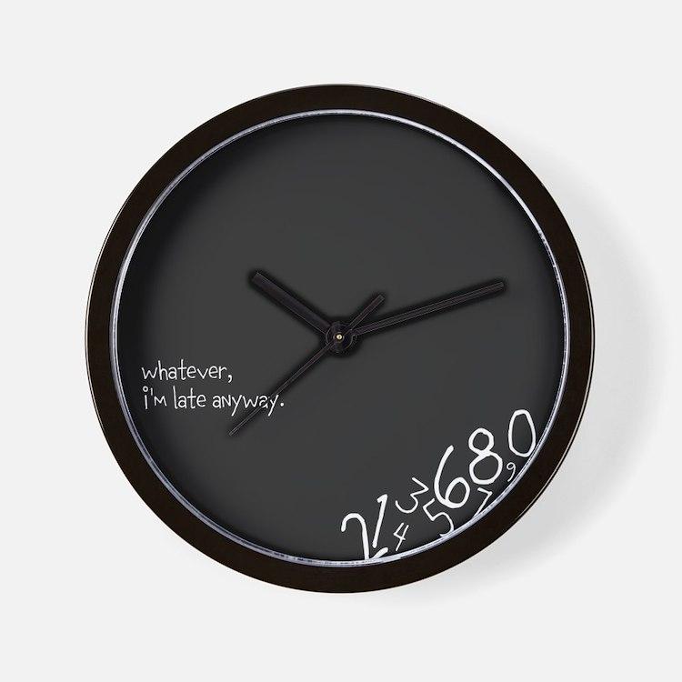 Cute Whatever late Wall Clock