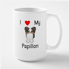 I love my Papillon (picture) Large Mug