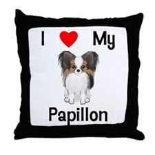 I love my Papillon (picture) Throw Pillow