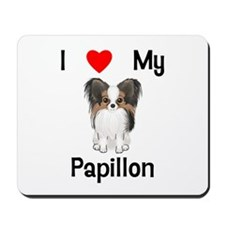 I love my Papillon (picture) Mousepad