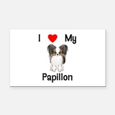 I love my Papillon (picture) Rectangle Car Magnet