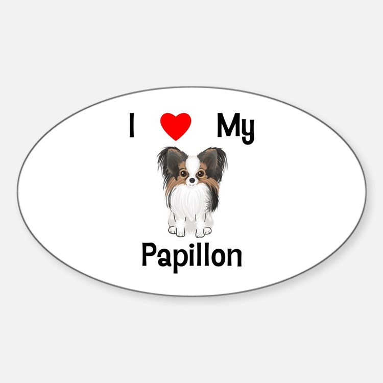 I love my Papillon (picture) Decal