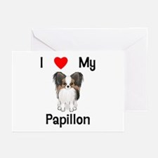 I love my Papillon (picture) Greeting Cards (Pk of
