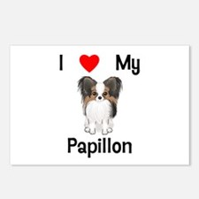 I love my Papillon (picture) Postcards (Package of