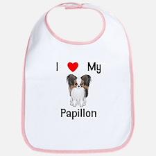 I love my Papillon (picture) Bib