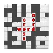 Crossword Nerd Tile Coaster