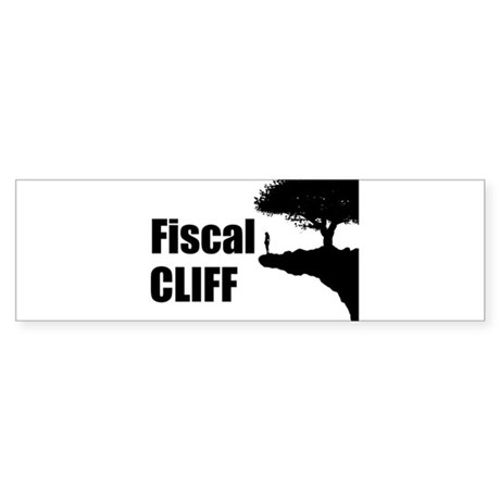 The Fiscal Cliff Sticker (Bumper)