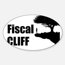 The Fiscal Cliff Sticker (Oval)