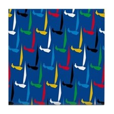 Sailing Regatta Tile Coaster