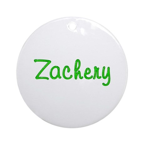 Zachery Glitter Gel Round Ornament