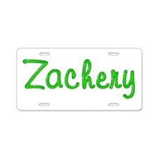 Zachery Glitter Gel Aluminum License Plate