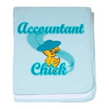 Accountant Chick #3 baby blanket