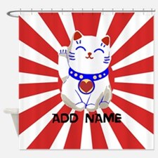 cute personalized lucky Japanese cat Shower Curtai