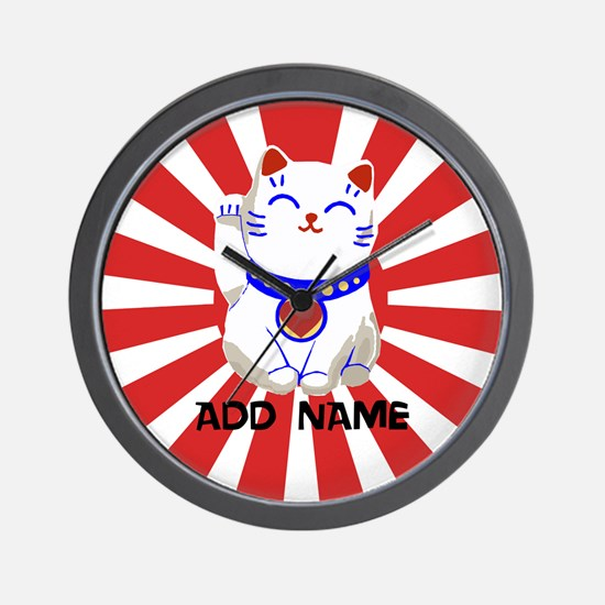 cute personalized lucky Japanese cat Wall Clock