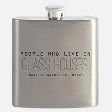'Glass Houses' Flask