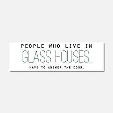 'Glass Houses' Car Magnet 10 x 3