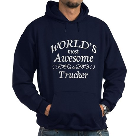 Awesome Trucker Hoodie (dark)