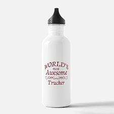 Awesome Trucker Water Bottle