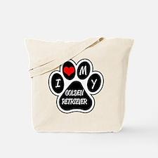 I Love My Golden Retriever Tote Bag
