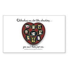 Chihuahuas - like chocolates Oval Stickers