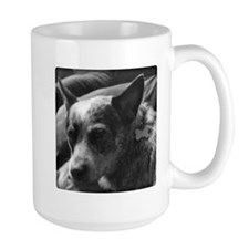 Heeler in Black and White Mugs