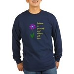 Believe in Yourself V3 Long Sleeve Dark T-Shirt