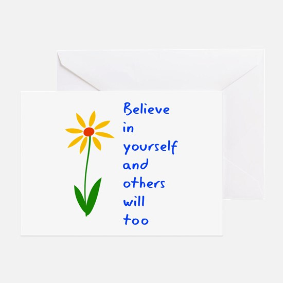 Believe in Yourself V3 Greeting Card