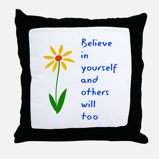 Believe in Yourself V3 Throw Pillow