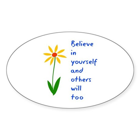 Believe in Yourself V3 Sticker (Oval 50 pk)
