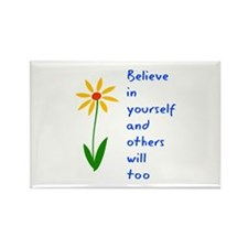 Believe in Yourself V3 Rectangle Magnet