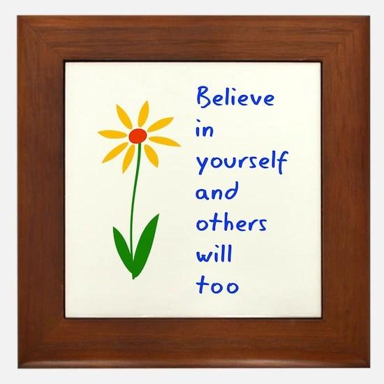 Believe in Yourself V3 Framed Tile