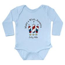 Make A Wish Long Sleeve Infant Bodysuit
