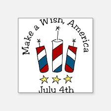 """Make A Wish Square Sticker 3"""" x 3"""""""