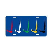 Sailing Regatta Aluminum License Plate