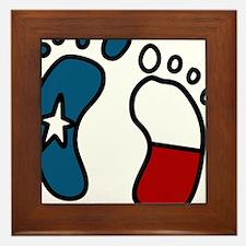 Texas Baby Feet Framed Tile