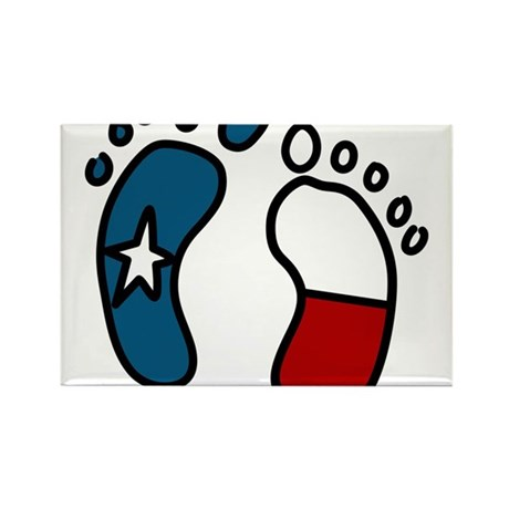 Texas Baby Feet Rectangle Magnet