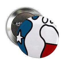 """Texas Baby Feet 2.25"""" Button"""