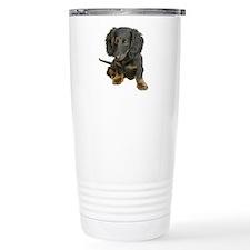 Cute Brown dachshund Travel Mug
