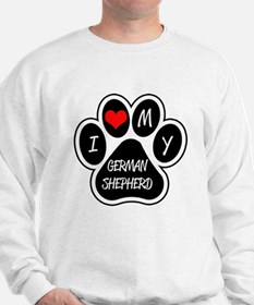 I Love My German Shepherd Sweatshirt