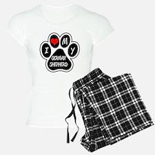 I Love My German Shepherd Pajamas